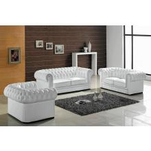 Divani Casa Paris 1 Modern White Bonded Leather Sofa Set