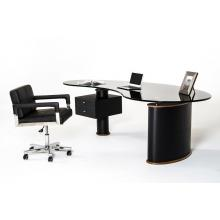 Modrest Robertson Modern Black and Walnut Office Desk