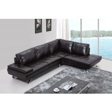Divani Casa Knight Modern Brown Leather Sectional Sofa w/ Audio System