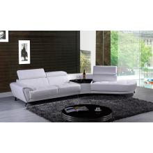 Divani Casa Raizel Modern White Leather Sectional Sofa w/ Right Facing Chaise