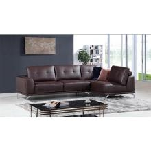 Divani Casa K8210 Modern Brown Eco-Leather Sectional Sofa