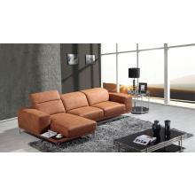 Divani Casa K8216 Modern Brown Eco-Leather Sectional Sofa