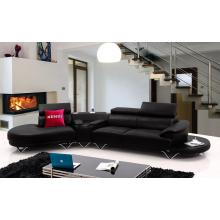 Divani Casa K8470 Modern Black Leather Sectional Sofa