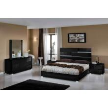 Modrest Kyoto Italian Modern Black Bedroom Set