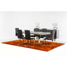 Modrest Lola Modern Grey Brush Dining Table