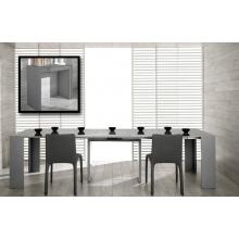 Modrest Morph - Modern Ultra-Compact Extendable Grey Dining Table