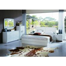 Modrest Palermo - White Bed Group with Storage