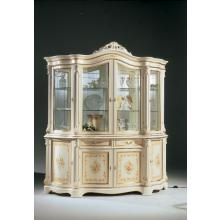 Regina Traditional Italian Antique White 4-Door China Cabinet
