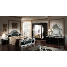 Modrest Rococco - Italian Classic Black-Silver Bedroom Set