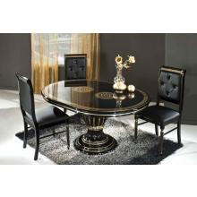 Modrest Rossella Black - Round Extendable Dining Table Made in Italy