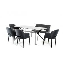 Modrest Synergy Modern Smoked Glass Dining Table