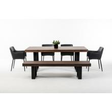 Modrest Lola Modern Wenge Walnut Dining Table