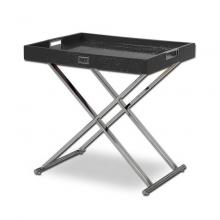 A&X AK831-50 Modern Black Crocodile Tray Table