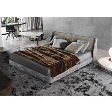 Modrest BD-16  Modern Grey Fabric Platform Bed