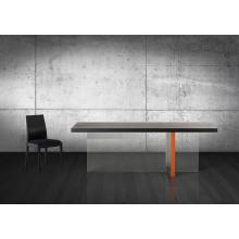 Modrest Vision - Modern Black Oak Floating Dining Table
