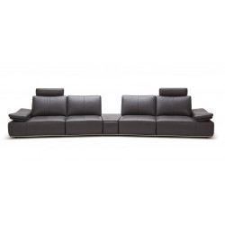 Divani Casa Hibiscus - Large Modern Single Sofa with Reclining Backrests