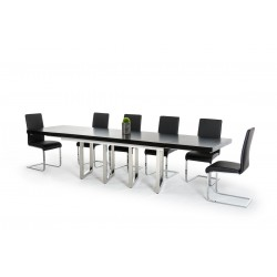 Modrest Drexler Modern Black Extendable Dining Table