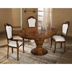 Modrest Elizabeth - Round Extendable Dining Table Made in Italy