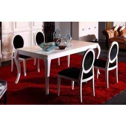 A&X Dolce - White Lacquer Dining Table