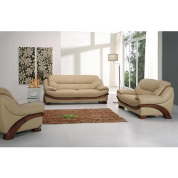 Divani Casa 870 - Traditional Leather Loveseat