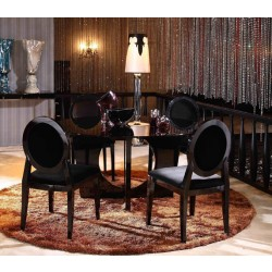 A&X Core - 59 inches Round Glass Dining Table