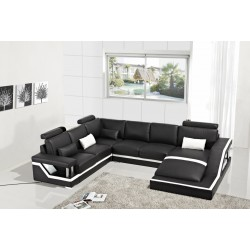 Divani Casa T271 - Modern Bonded Leather Sectional Sofa