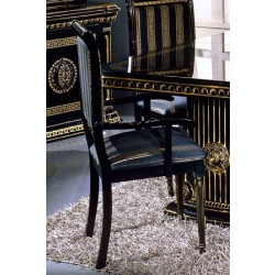 Modrest Rosella - Italian Classic Black Dining Arm Chair