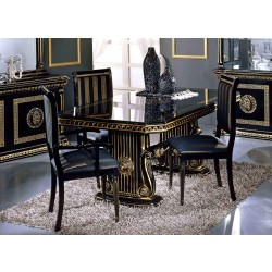 Modrest Rosella - Italian Classic Black Rectangular Dining Table