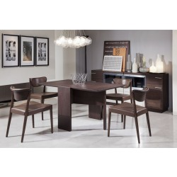 Modrest Union Modern Brown Oak Folding Dining Table