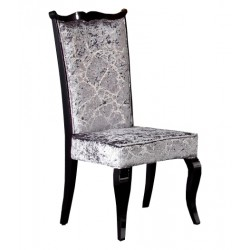 A&X Silver Velvet Side Chair - AC014