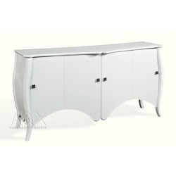 A&X Transitional White Buffet - AC639-180
