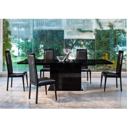 Modrest Ancona Modern Black Extendable Dining Table