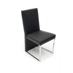 A&X 0099 Modern Black Leatherette Dining Chair