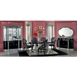 Barocco Black Traditional Dining Set