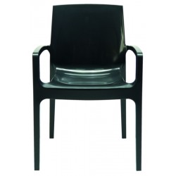 Modrest Cream - Modern Glossy Anthracite Italian Dining Chair