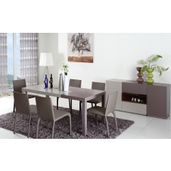 Modrest Puzzle - Modern 2-Tone Dining Table