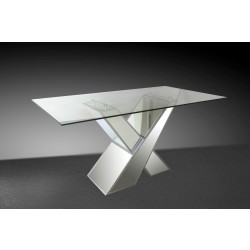 Modrest Griffin Modern Mirrored Dining Table