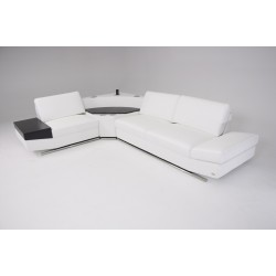 Divani Casa K8464 - Modern Eco-Leather Sectional Sofa with Audio Center