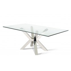 Modrest Anora Modern Clear Glass Rectangular Dining Table