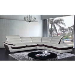 Divani Casa Miracle - Contemporary Leather Sectional Sofa