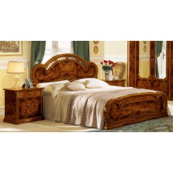 Modrest Milady Italian King Bed with 2 Nightstands