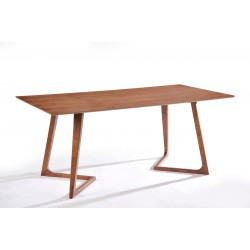 Modrest Jett Contemporary Walnut Dining Table