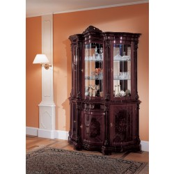 Regina Traditional Mahogany 3-Door China Cabinet