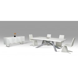 Modrest Vanguard - Modern Small White and Grey Dining Table
