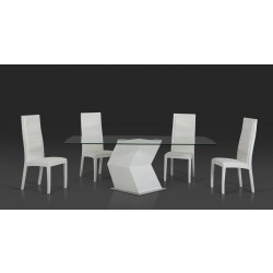 Modrest Transcendent Modern Glass Top Dining Table