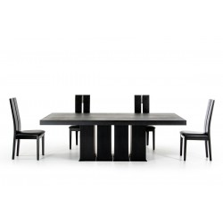 Modrest Trunks Modern Wenge Dining Table