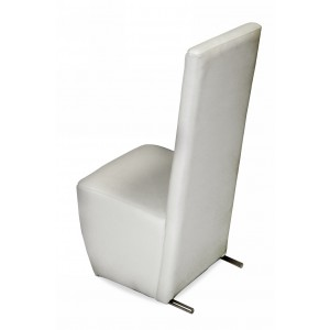 A&X Maud Modern White Leatherette Dining Chair