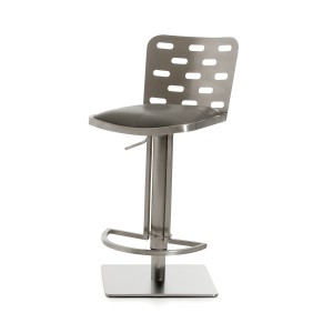 Modrest Cora Modern Grey & Stainless Steel Bar Stool
