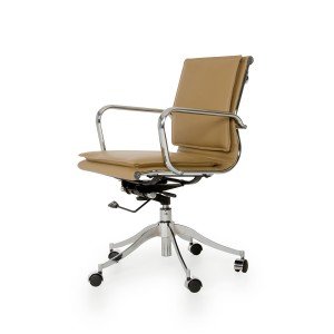 Modrest Mindie Modern Camel Low-Back Office Chair