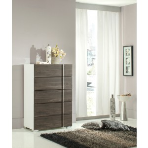 Nova Domus Corrado Italian Modern White & Grey Chest